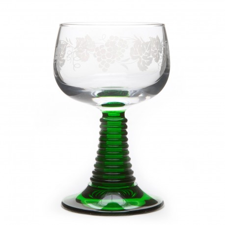 "6 Alsace's wine glasses ROEMER ""GRAPE"" decor"