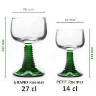6 Alsace wine glasses Roemer Big size 27 cl