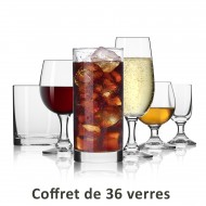 "6 Wine glasses ""JAMESSE"" Grand Rouge 77 cl - crystal"